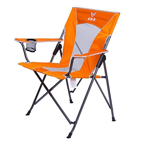 CKH Stoel in de buitenlucht klapstoel draagbare rugleuning ligstoel strand balkon vrije tijd slapen vissen stoel oranje