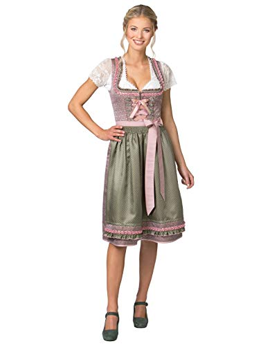 Stockerpoint Damen Dirndl Julia Kleid für besondere Anlässe, Rose-grün, 42