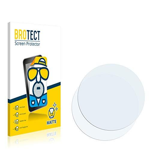 brotect 2-Pack Screen Protector Anti-Glare compatible with Circular Displays (Diameter: 40.5 mm) Screen Protector Matte, Anti-Fingerprint Protection
