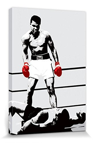 Muhammad Ali 1art1 Boxhandschuhe des Siegers Bilder Leinwand-Bild Auf Keilrahmen | XXL-Wandbild Poster Kunstdruck Als Leinwandbild 120 x 80 cm