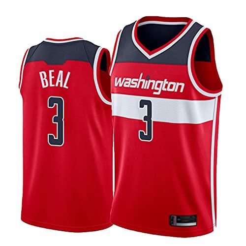 No.3 Beal Jersey, 2021 Jersey de Baloncesto para Hombres, edición de la Ciudad Swingman sin Mangas Chaleco Red-L