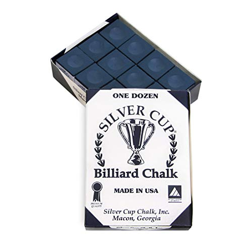 Best Price SILVER CUP Billiard CHALK - ONE DOZEN (Navy)