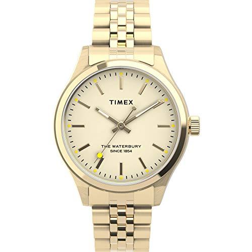Timex Women's Waterbury Neon 34mm Quartz Stainless Steel Strap, Rose Gold, 16 Casual Watch (Model: TW2U23200)