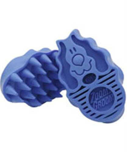 Kong Zoom Groom Bürste für den Hund, stabil, Blau