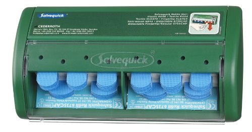 Salvequick Pflasterspender detectable, Spender, 75Blau steril