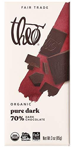 Theo Chocolate Pure Organic Dark Chocolate Bar