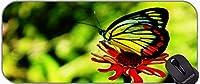エクストラ大きなゲームマウスパッド、蝶の昆虫の昆虫自然樹の花の咲くマウスパッドxxl