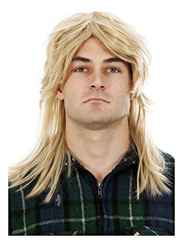 Mens Mullet Wigs Dark Blonde 80s Costumes Mens Mullet Wig Merica Blonde Brown Black Joe Dirt Costume Accessories