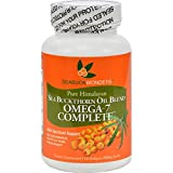 Seabuck Wonders Sea Buckthorn Oil Blend - 500 mg - Omega 7 Complete - Natural - Gluten Free - 120 Softgels (Pack of 2)