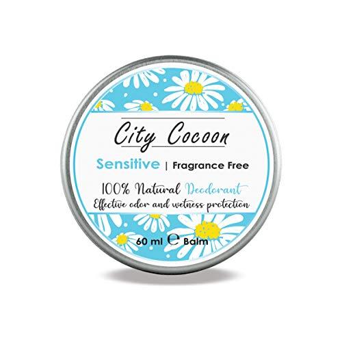 Bálsamo desodorante Sensible natural | Sin perfumes, para pieles sensibles | Bisabolol | Hombre & mujer| 100% libre de crueldad animal | Libre de aluminio, parabenos & plásticos - 60ml