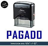 IMPACT2PRINT Shiny S-842 - Sello de goma autoentintado PAGADO personalizado para oficina