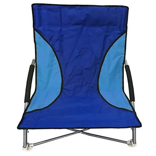 NALU Folding Low Camping Chair Lightweight Foldable Portable Garden Beach Seat Blue