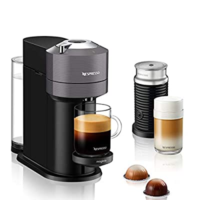 Nespresso Vertuo Next with Aeroccino, by Magimix - Dark Grey