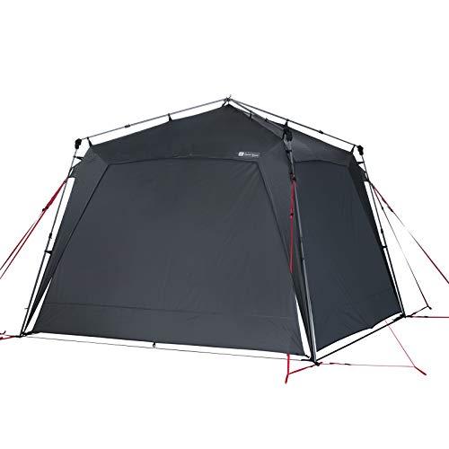 Qeedo Quick Space Camping Pavillon (3x3m) mit UV-Schutz (UV80) & Dark-Coating - windstabil, schneller Aufbau, 8 Personen - Set