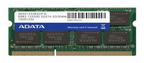 ADATA AD3S1333B2G9-S Speichermodul 2 GB DDR3 1333 MHz - Speichermodule (2 GB, 1 x 2 GB, DDR3, 1333 MHz, 204-pin SO-DIMM)