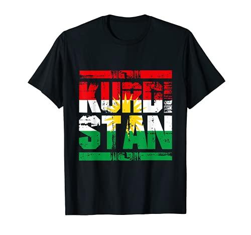Kurdistan T-shirt Kurd Biji Kurdish Flagge Fahne