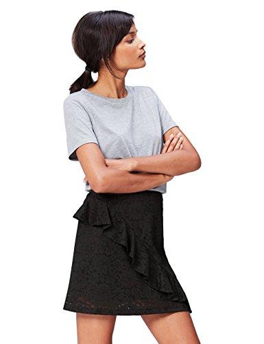 Marca Amazon - find. Blusa Mujer, Negro (Black), 36, Label: XS