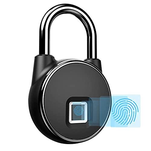 Candado inteligente huella dactilar   Con videoinstrucciones en español   Contraseña biométrica: sin llave, sin APP   Para exterior e interior