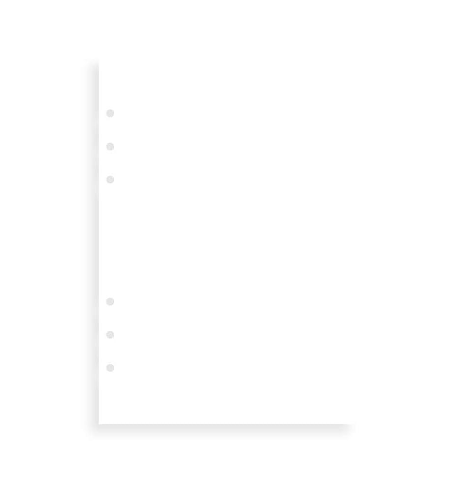 デザートクール出席ファイロファックス クリップブック システム手帳 リフィル バイブル メモ 無地 ホワイト 344004 正規輸入品