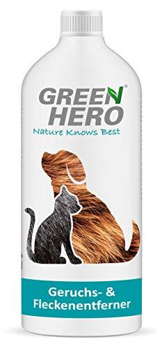 Green Hero Geruchsentferner und Fleckenentferner gegen Tiergerüche Biologischer Enzymreiniger als Mikrobiologischers Konzentrat 1000 ml ergeben 10 Liter gebrauchsfertigen Reiniger