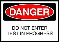 屋外の装飾アルミニウムサインイン、アクティブサインは進行中のテストに参加しない危険サイン、ガレージマン洞窟カフェバーパブクラブカフェパティオの家の装飾のための錫プラークアルミニウム壁