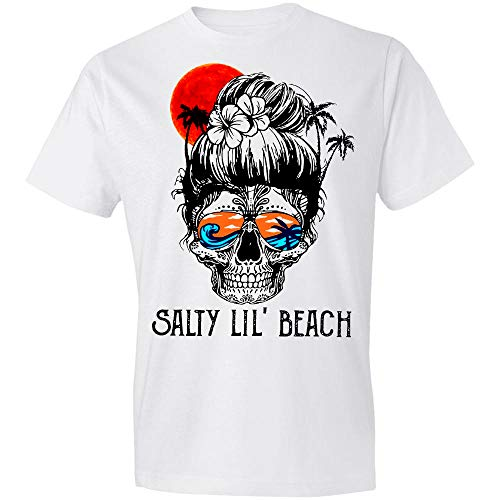 Salty Lil' Beach Skull, Sassy Since Birth Salty by Choice, Sugar Skull, Skull Girl, Love Beach, Surfing, Summer Time Is Coming, Birth-Day Gift For Women T-Shirt,Gift