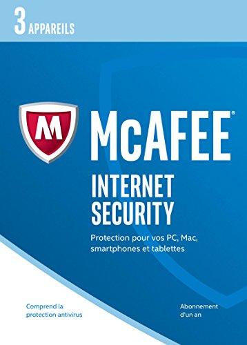 McAfee Internet Security 2017 3 appareils [Code Jeu ]