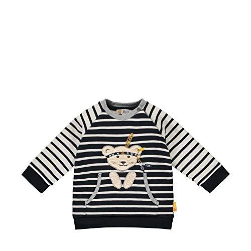 Steiff Baby-Jungen mit süßer Teddybärapplikation Sweatshirt, Navy, 086