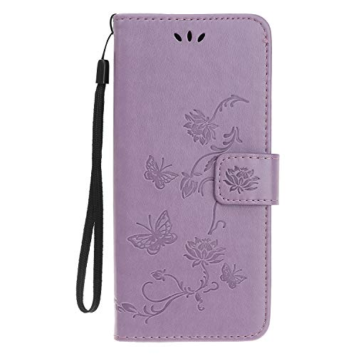 Reevermap Samsung Galaxy A22 5G Case Flip Cover PU Leather Wallet Lotus...