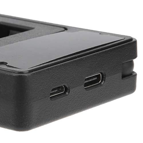 WOUPY Cargador de batería de Doble Ranura, Cargador de batería de cámara, computadora con cámara Tipo C