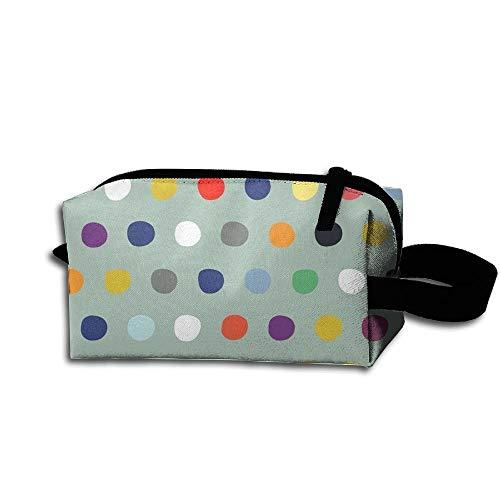Travel Makeup Watercolor Dot Beautiful Waterproof Cosmetic Bag Quick Makeup Bag Pencil Case