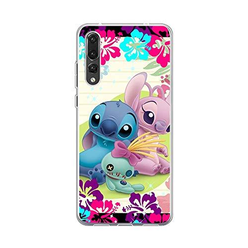 Linda funda de teléfono de silicona suave Lilo Stitch para Huawei P30 P20 Pro P10 P9 P8 Lite P Smart TPU Cover