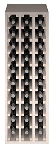 Expovinalia Ew2033 Weinregal aus Kiefernholz, für 30 Flaschen, Weiß