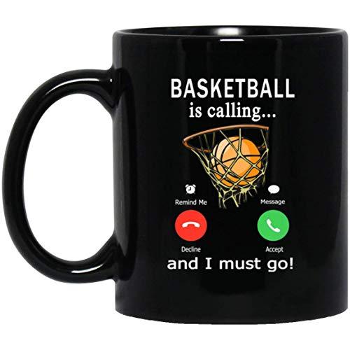 Basketbal is bellen en ik moet gaan telefoonscherm 11 oz. Zwarte mok