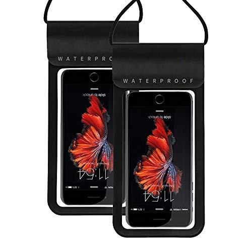 subtel 2X wasserdichte Tasche kompatibel mit Smartphone, Handy, GPS, MP3-Player etc. (5