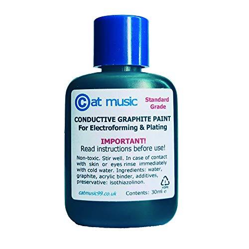 Pintura conductora de grafito, galvanoplastia y tinta de electroformación, 30 ml