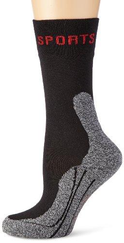 Schiesser Blickdicht Damensocken Sport Wandersocken Socken, Schwarz (000-schwarz), 35/36