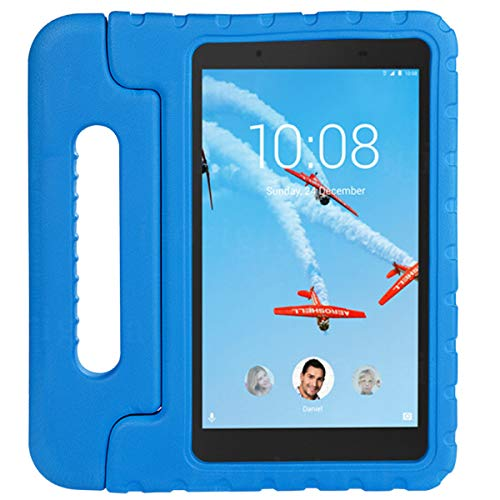 cradle HR Compatible Kids Protective New Hand stand Case for Lenovo Tab 4 8/8 Plus 8 Inch Tablet,EVA Light Weight Protective Case Shock Proof stand Cover (blue)