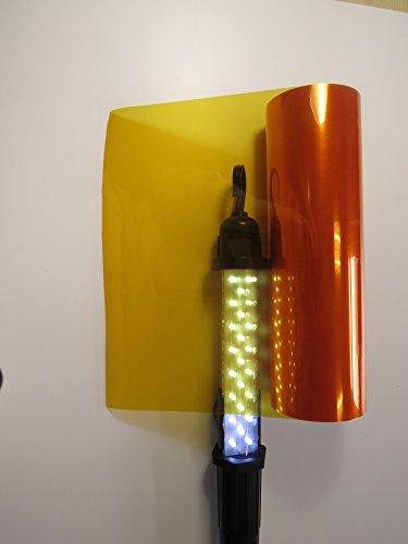 Könighaus (5,89€/m2) Scheinwerfer Tönungsfolie Orange (Rückleuchten Blinker Nebelleuchten) 20 x 30 cm