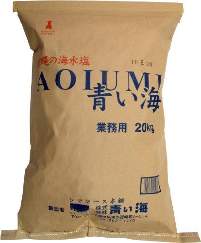 業務用 沖縄の海水塩青い海 20kg