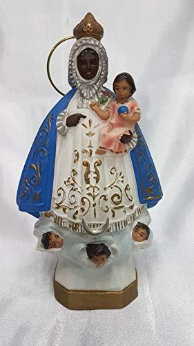 El Sendero, Sano y Natural Imagen Virgen de la Regla, 18cm Alto Pintado a Mano.