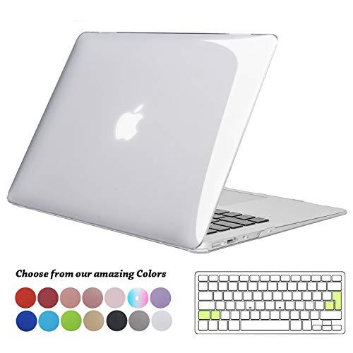 TECOOL Funda MacBook Air 13 Pulgadas (Versión: 2010-2017), Delgado Cubierta Plástico Dura Case Carcasa con Tapa del Teclado para MacBook Air 13.3 Pulgada (Modelo: A1466 / A1369) - Transparente