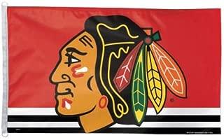 WinCraft NHL Chicago Blackhawks WCR40674071 Team Flag, 3' x 5'