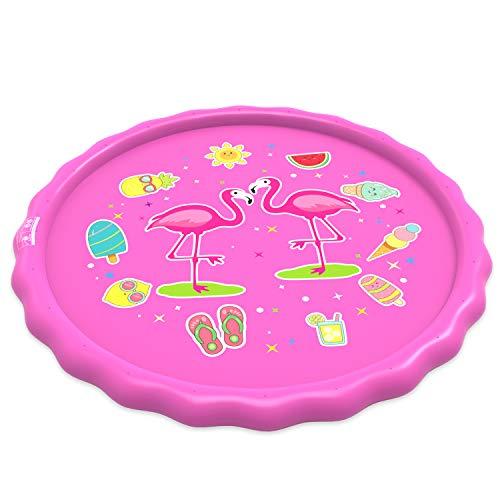 Yedda Splash Pad, Juegos de Agua para Niños, Almohadilla de Aspersor de Juego de 170 cm para Niños con Chorro de Agua, Juegos de Agua para Jardín al Aire Libre de Verano de PVC