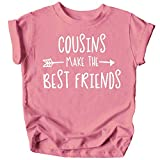 Cousins Make The Best Friend T-Shirt for Baby and Toddler Girls Fun Family Outfits Mauve Shirt