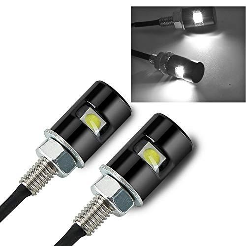 Rupse Ampoule LED Ampoules de Plaque D'immatriculation de Voiture & Moto Vis Boulon LED lumière12V Universel LED Plaque D'immatriculation (2PCS)