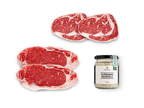 Kreutzers | Premium Dry Aged Red Heifer Grillpaket inkl. dryaged Roastbeef, dryaged Ribeye und Meersalz