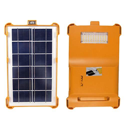 Abaodam 5W portátil LED energía solar luz al aire libre carga emergencia camping tienda Waterpfoor multifuncional mochila lámpara patio luces (naranja)