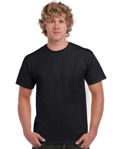 Gildan Herren Adult Ultra Cotton T-Shirt, Schwarz (Black), Medium (Herstellergröße: M)