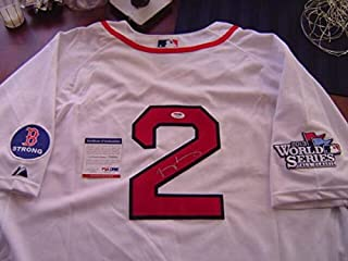 Boston Red Sox Jacoby Ellsbury Autographed Signed Memorabilia Boston Strong 2013 World Series Jersey PSA/DNA